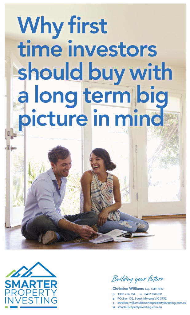 Why first time investors should buy with a long term big picture in mind